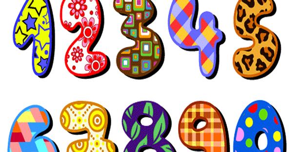 Numeros con colores para imprimir | Imagenes y dibujos para imprimir