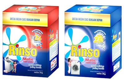 Perbedaan antara Rinso Matic Top Load dan  Rinso Matic Front Load