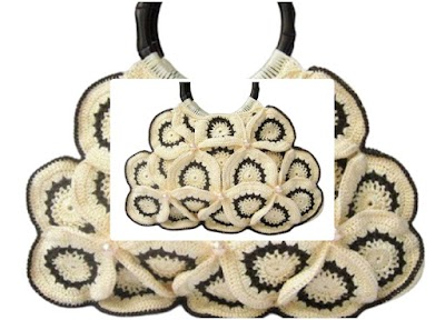 Bolso crochet grannys con algunos doblados