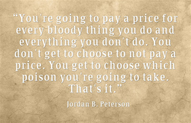 Jordan B. Peterson quotes about paying price
