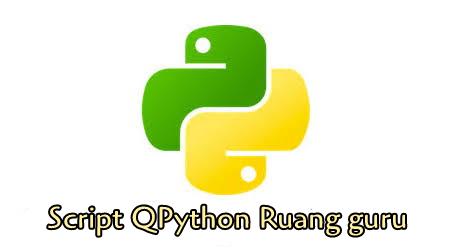 Script Qpython Ruang Guru