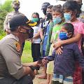 Kapolres Samosir AKBP Josua Tampubolon Berbagi Kasih Dengan Keluarga Alm. Rianto Simbolon