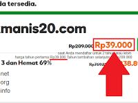 Promo Domain dot Com Rp 39000