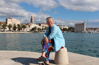 Janie Robinson in Split, Croatia. Photograph of Janie Robinson, Travel Writer by Brian Quinn
