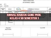 Jurnal Harian Guru PJOK Kelas 4 SD/MI Semester 1 Terkini