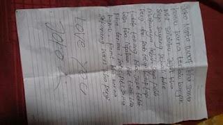 Selain Untuk Orang Tuanya, Gadis Olang Tulis Surat untuk Joko