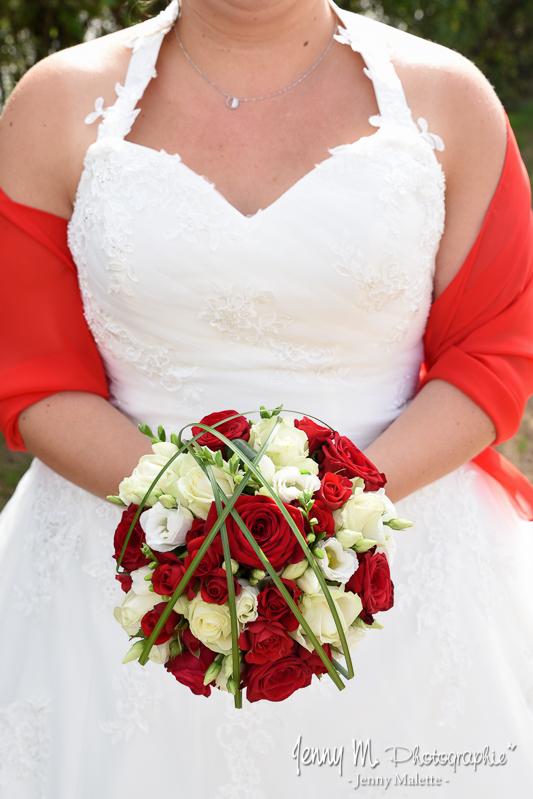 bouquet de la mariée thème rouge