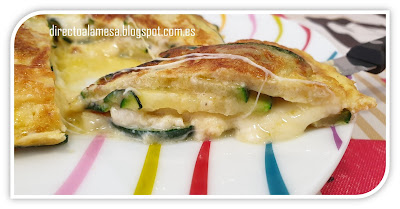 Tortilla De Calabacín Y Queso Azul