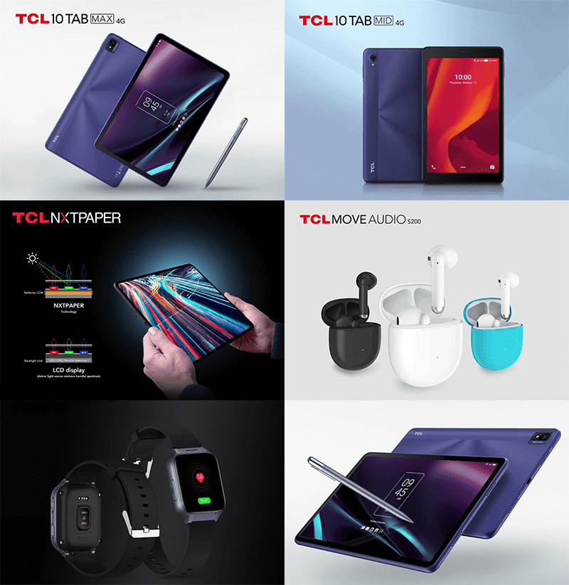 TCL announces 10 TABMAX, 10 TABMID, MOVEAUDIO S200, MOVETIME Family Watch