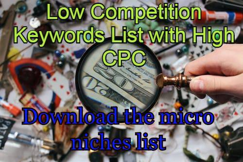 Low Competition Keywords List with High CPC - Simplitechinformer