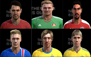 Faces: Calik, Forsberg, Garics, Hermansson.o Karavaev, Len, Pes 2013