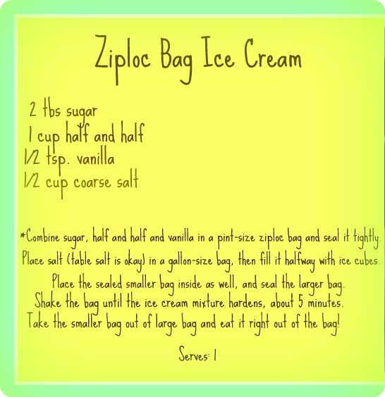 Photos Of Ziploc Bag Ice Cream Recipe