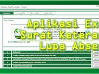 Aplikasi Excel Surat Keterangan Lupa Absen