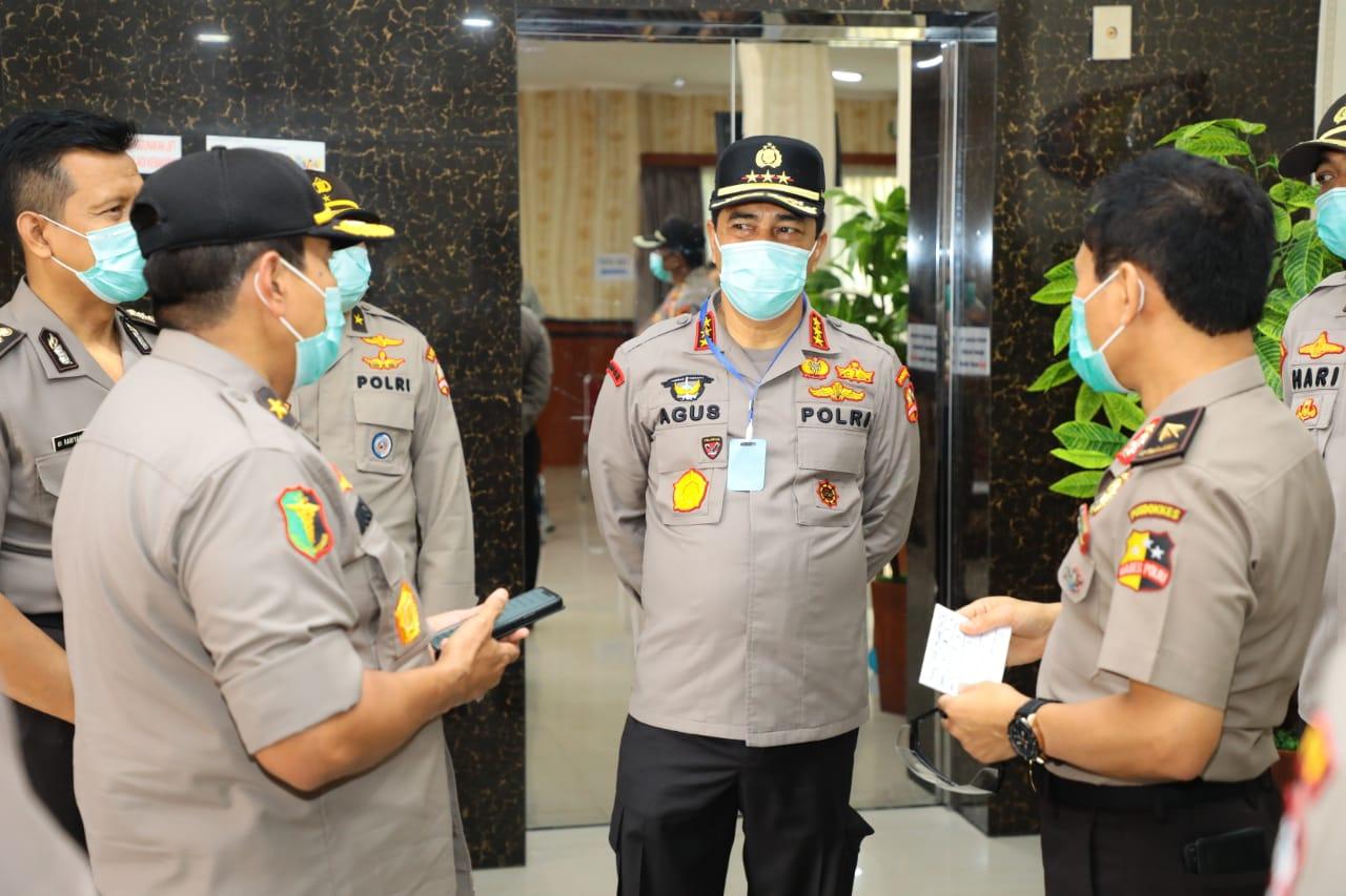 Kesiapan Rumah Sakit Polri Rujukan Pasien Positif Covid-19 Ditinjau Langsung Oleh Kabaharkam Polri
