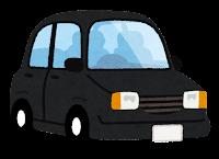 黒の自動車のイラスト