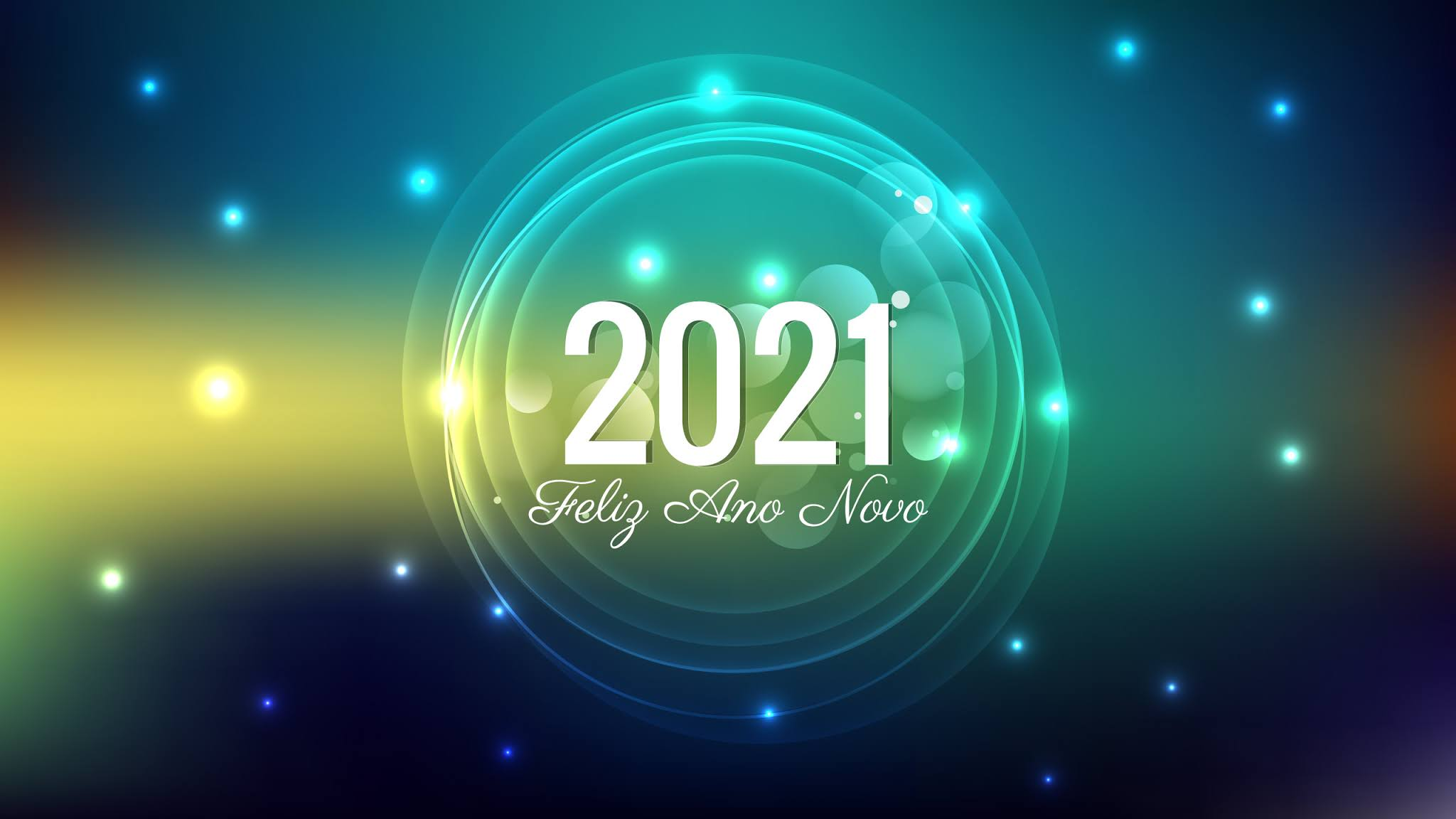 Happy New Year 2021 Green Background