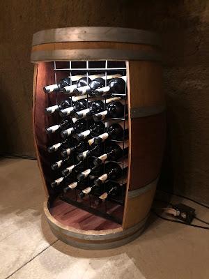 Custom wine storage at Porter Family Vineyards
