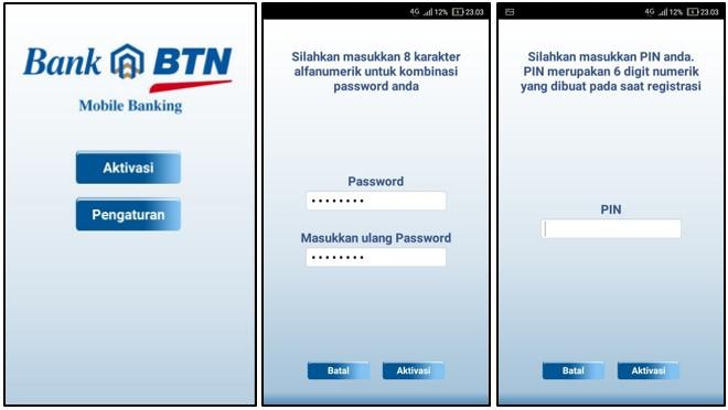 Aktivasi BTN Mobile Banking
