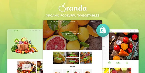 Best Organic Food Fruit Vegetables eCommerce Shopify Theme