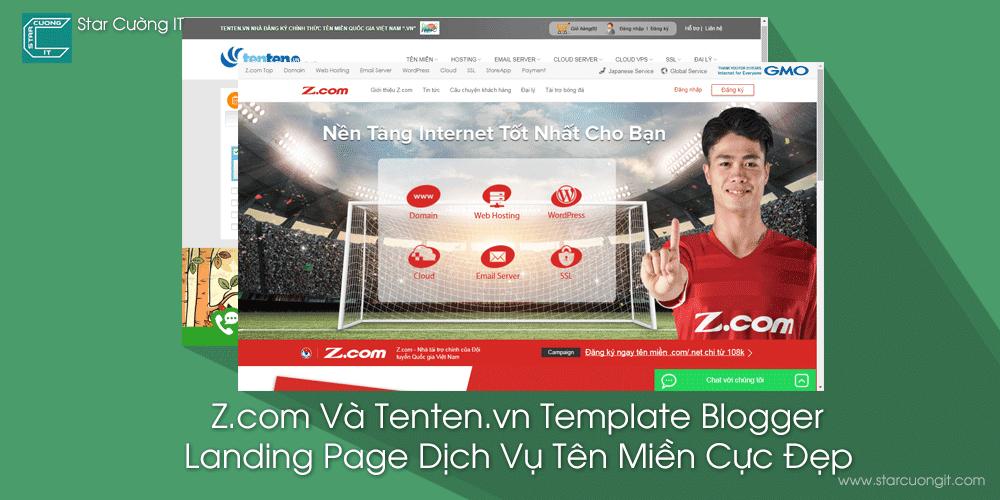 Z.com Và Tenten.vn Template Blogger Landing Page Dịch Vụ Tên Miền Cực Đẹp