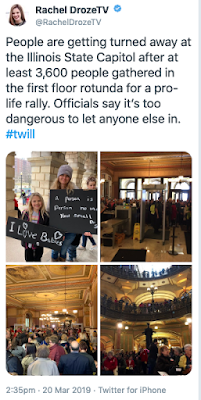 "Security declares Illinois State Capitol ""full"" during pro-life rally Wednesday"