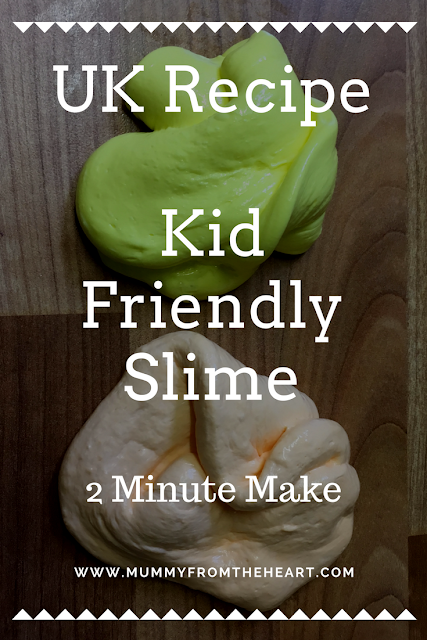 Easy to make slime with UK ingredients, it takes just 2 minutes, is kid friendly and super fun!