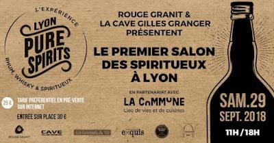 agenda evenements vin septembre 2018 blog beaux-vins 2018 vins Lyon Pure Spirits rhum whisky spiritueux