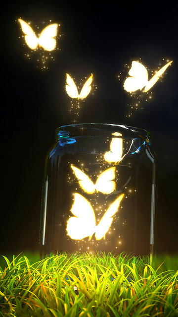 Magic butterfly mobile wallpaper