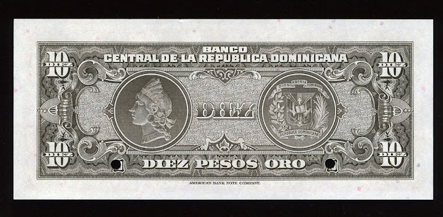 Indian Head Liberty paper money Dominican Peso Banknote