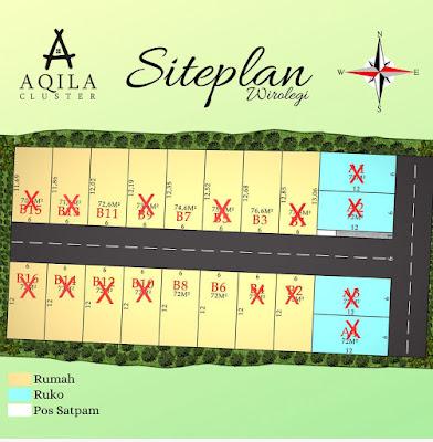 siteplan aqila cluster