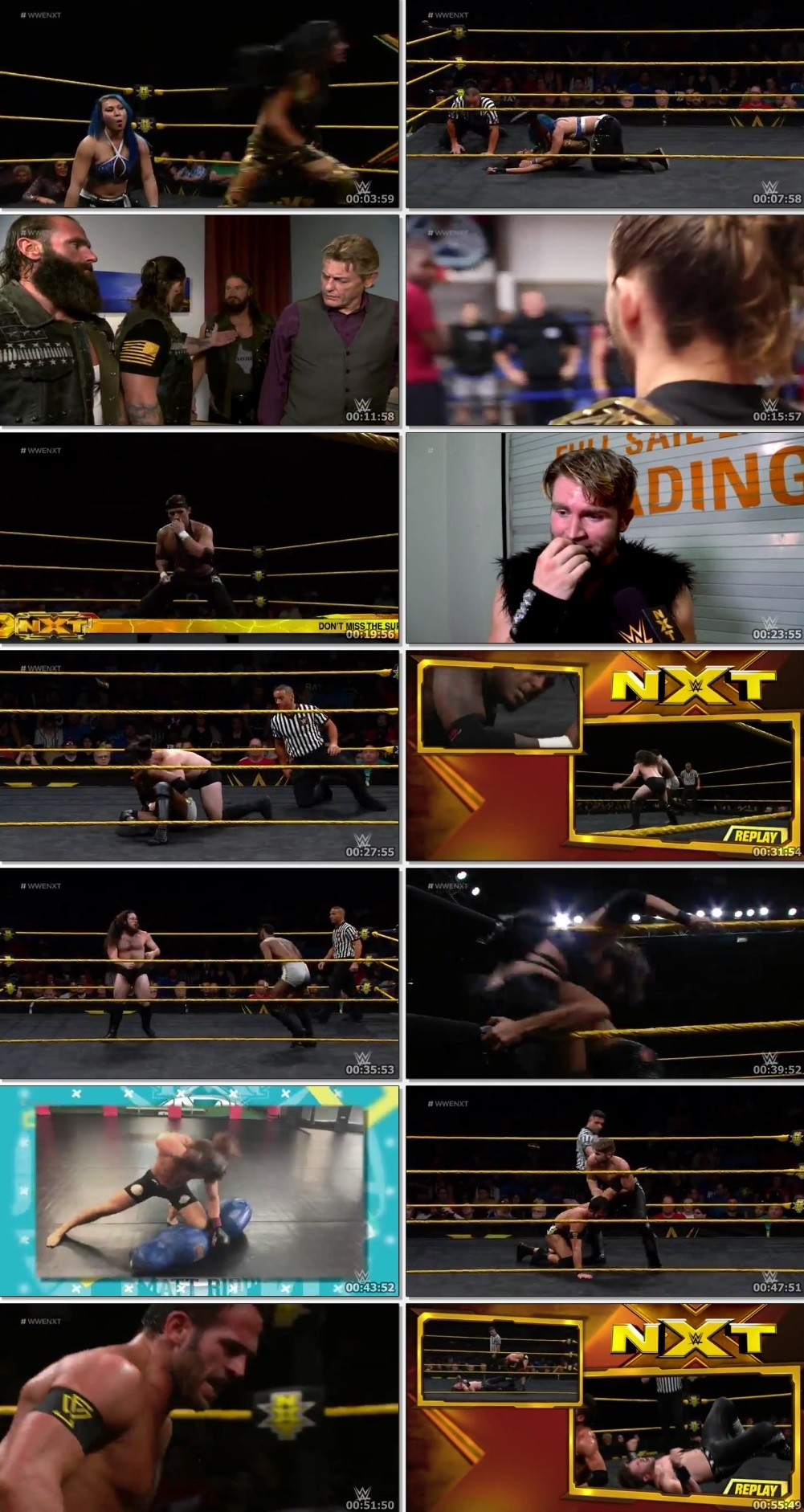 Screen Shot Of WWE NXT 3rd July 2019 HDTV 480P 300MB