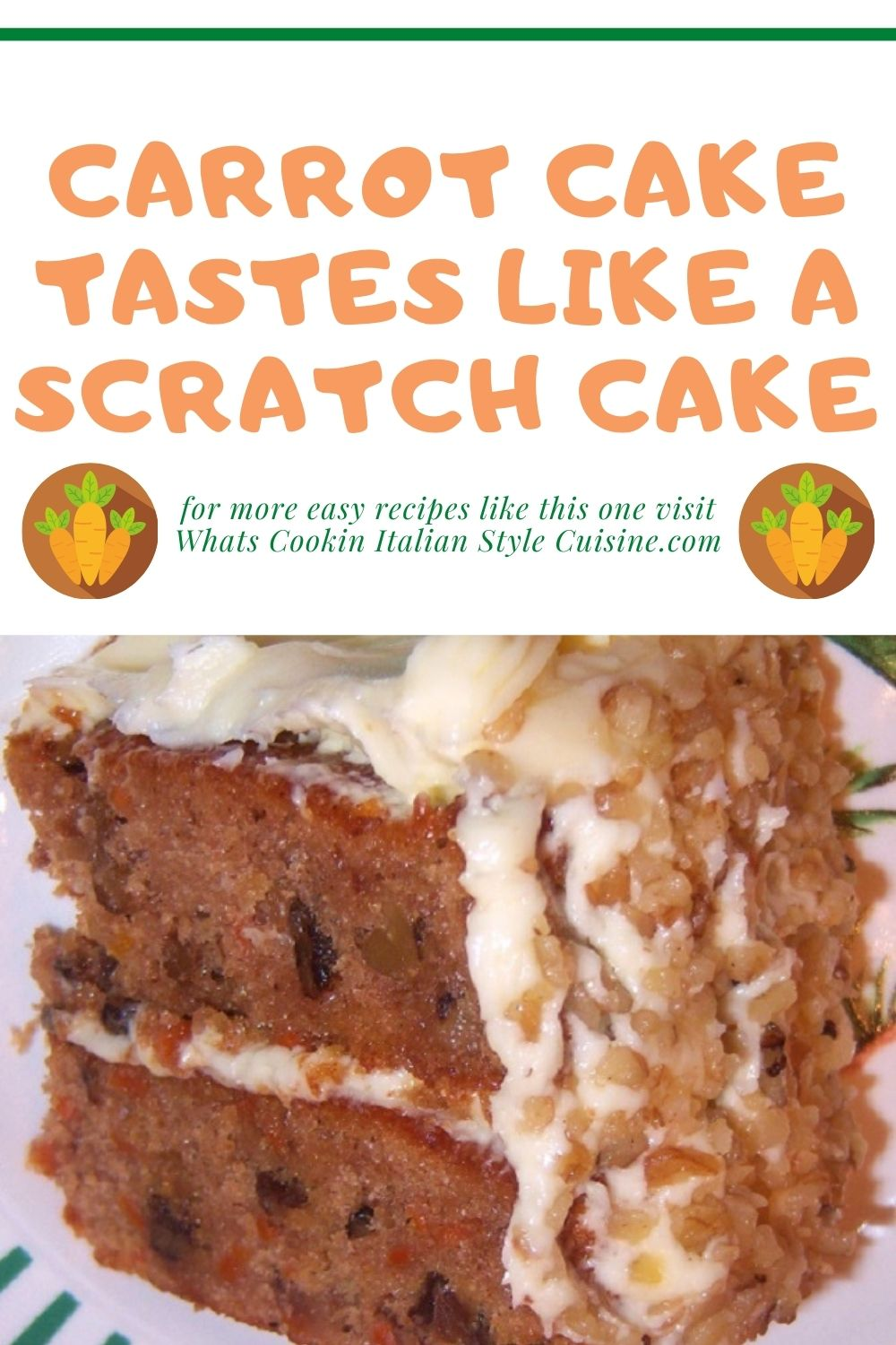 this is carrot cake for easter