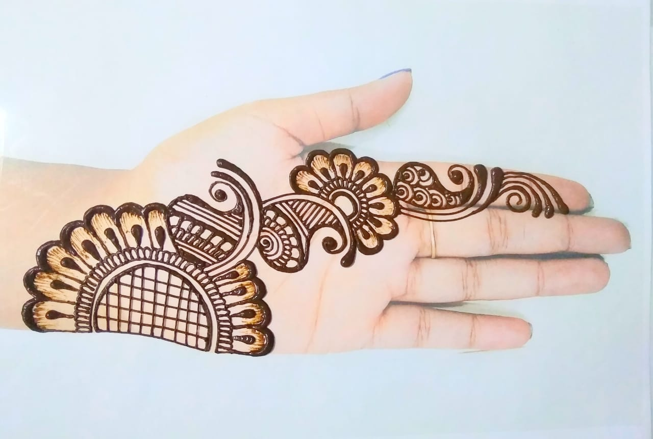 easy mehndi design simple