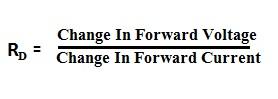 Dynamic Forward Resistance