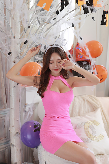 9 Yoon Ae Ji -  Halloween Set - very cute asian girl-girlcute4u.blogspot.com