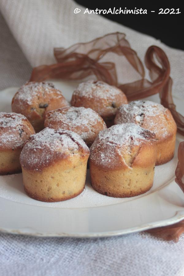 Muffins al Caffè con Cuore di Cioccolato Bianco