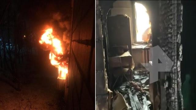 Петербурженка при пожаре выбросила из окна дочь и кота, чтобы спасти им жизнь