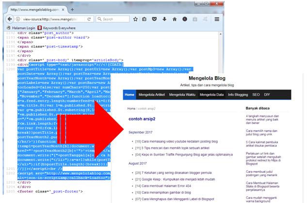 Copy paste dari page source, hasilnya berhasil