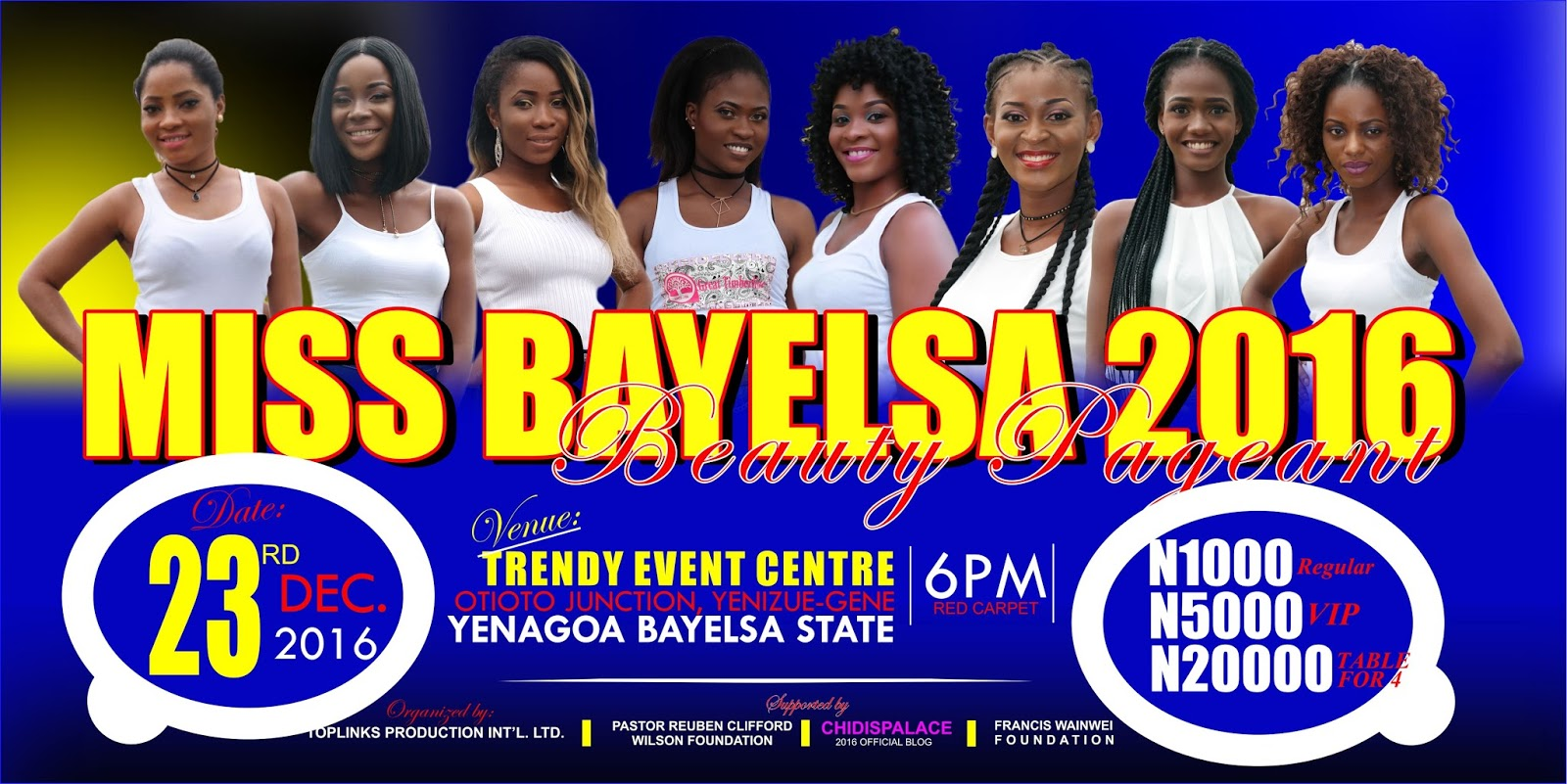 , Final Voting for Miss Bayelsa 2016 Contestants, Latest Nigeria News, Daily Devotionals & Celebrity Gossips - Chidispalace