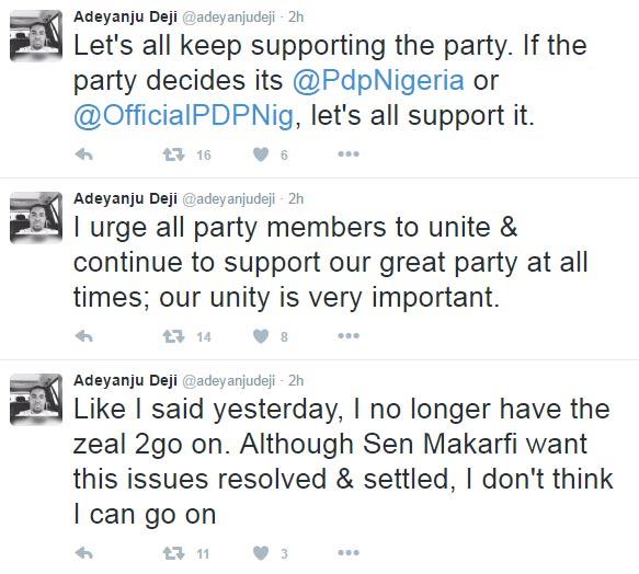 Deji Adeyanju resigns, succumbs to new Twitter handle @OfficialPDPNig