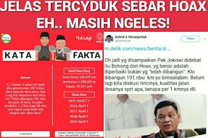 [HOAX Jokowi TELAH Bangun 191 Ribu KM] TKN: Jokowi Memperbaiki Jalan Desa, Bukan Membangun Jalan Baru