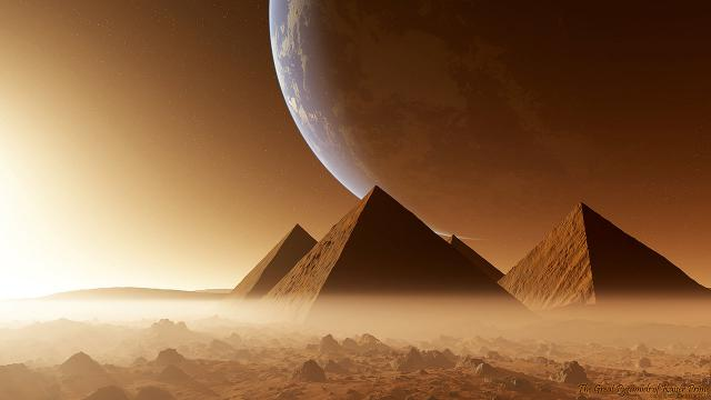 Pyramids on Mars and conspiracy theories
