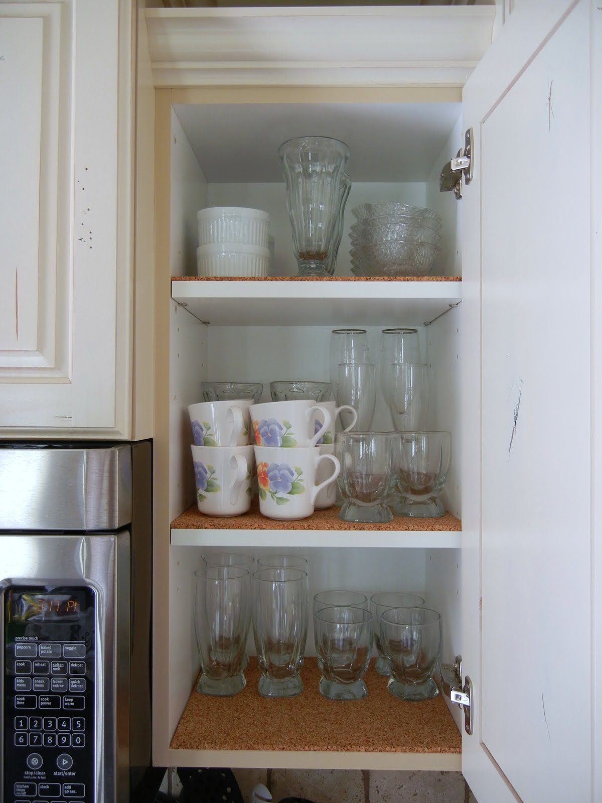Kitchen Shelf Liners Diy Cabinet Life Is Beautiful With A Bow Try Cork As Toxin Free Liner
