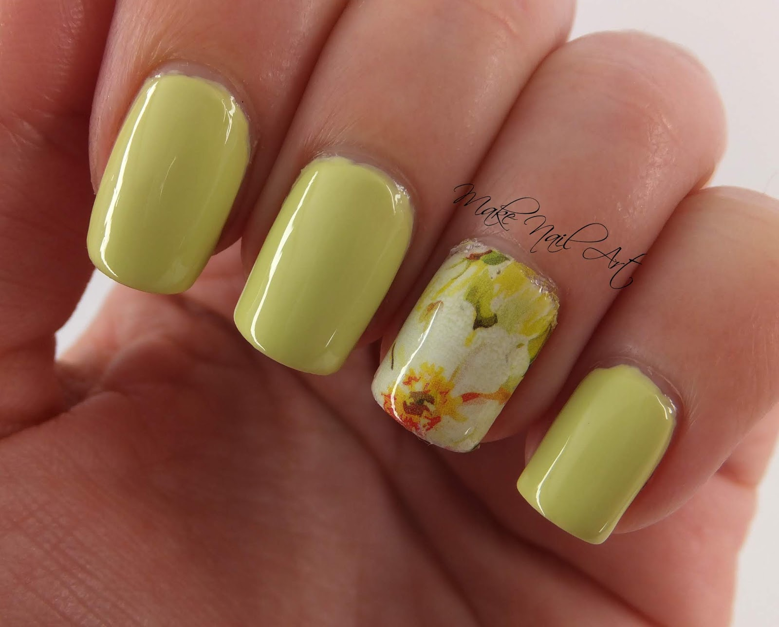 Make Nail Art: Summer Lime Green Nails
