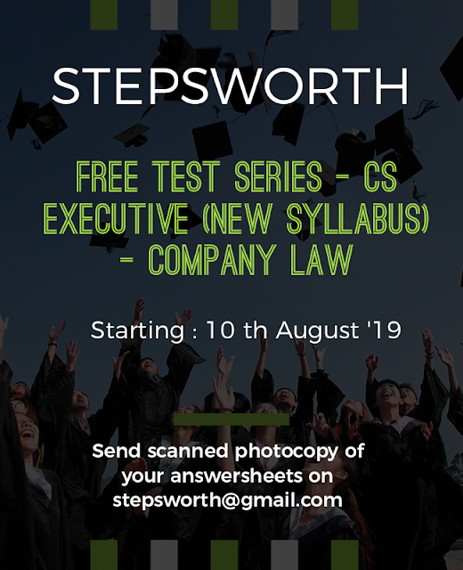 Schedule for Free Online Test Series- CS Executive New Syllabus Company Law