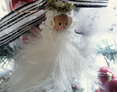 Christmas feather angel ornament