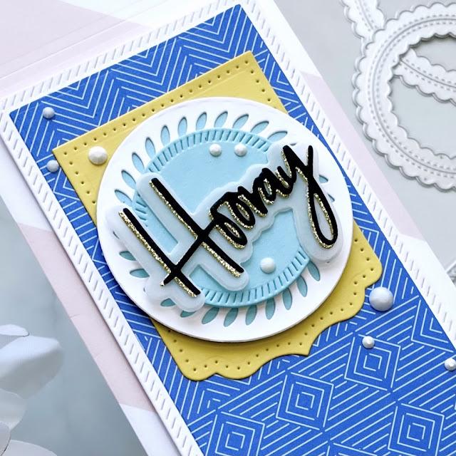 Cardbomb, Maria Willis,Pinkfresh Studios, die cutting, cards, cardmaking, ink, stamp, stamping, paper, paper craft, create, diy, art, color, mini slimline cards