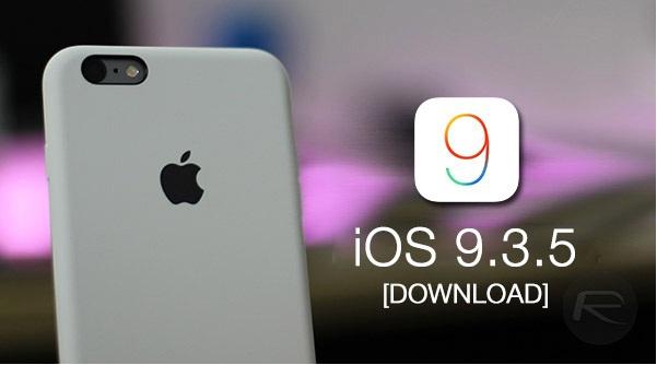 شركة ابل تصدر التحديث iOS 9.3.5