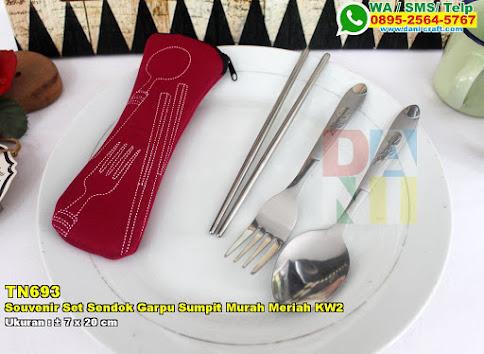 Souvenir Set Sendok Garpu Sumpit Murah Meriah KW2