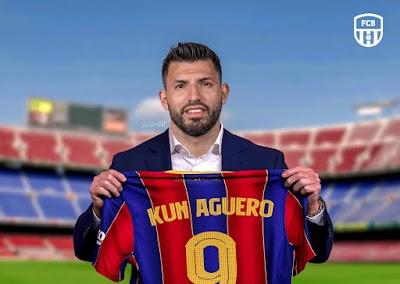 عاجل..برشلونة يعلن التعاقد مع أجويرو